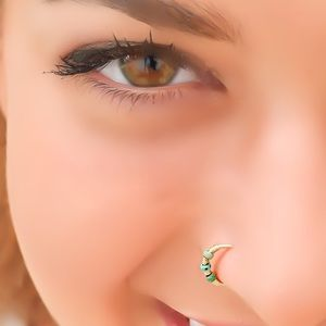 Indie Beaded Nose Ring Cartilage Hoop Earring